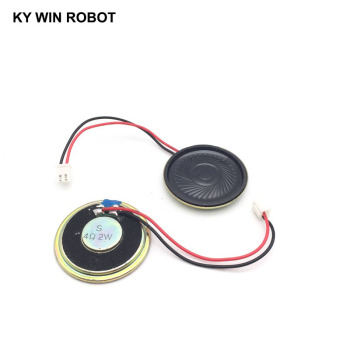 2pcs/lot New Ultra-thin speaker 4 ohms 2 watt 2W 4R speaker Diameter 40MM 4CM thickness 5MM with PH2.54 terminal wire length 10C 2pcs lot new ultra thin speaker 8 ohms 2 watt 2w 8r speaker diameter 30mm 3cm thickness 5mm with 1 25mm terminal wire length 10c