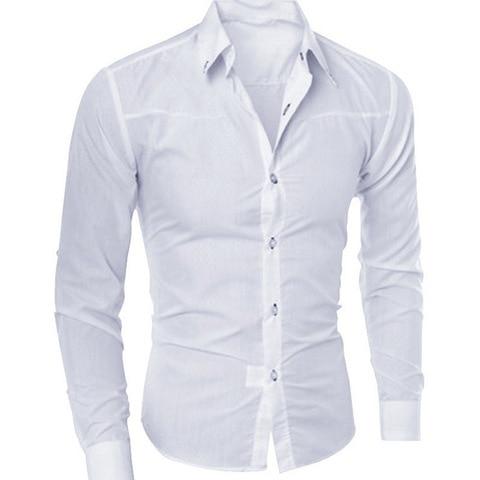 SHUJIN 5XL Casual Long Sleeve Formal Shirts Men Slim Fit Basic Business Dress Shirts Office Social Blouse Shirts Homme Tops Lahore