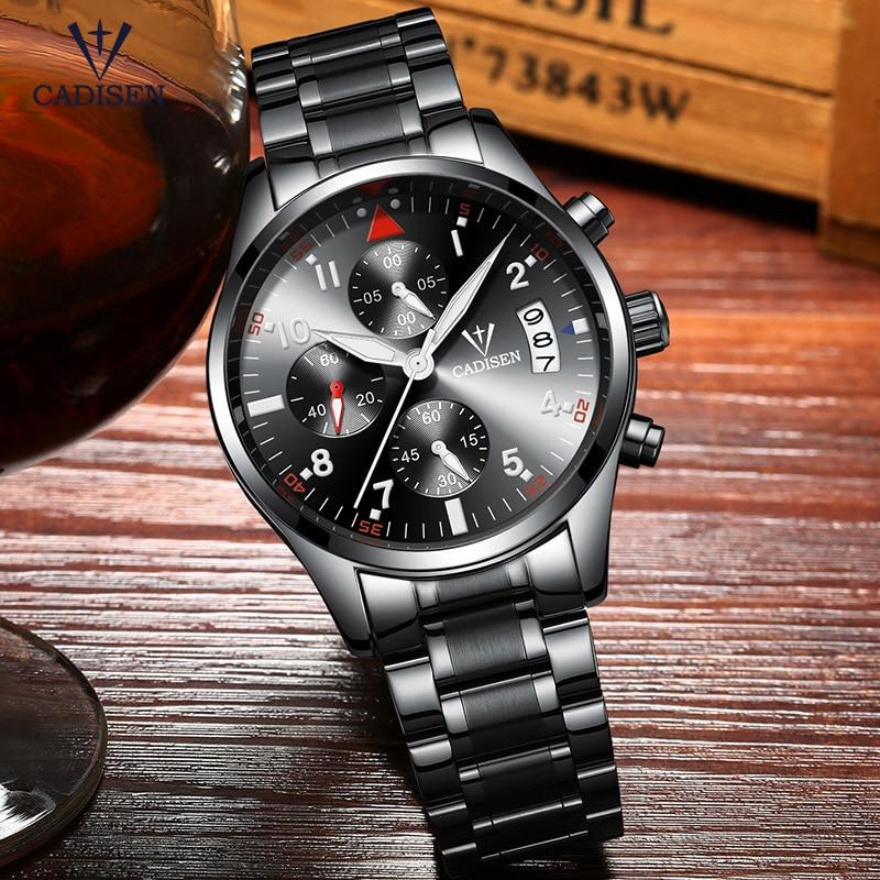 Cadisen Horloge Herenmode Sport Quartz Horloges Topmerk Luxe Volledig - Herenhorloges - Foto 3