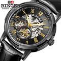 Suíça BINGER relógios homens marca de luxo relógios de Pulso luminoso B5036-6 Automatic self-vento cheio de aço inoxidável À Prova D' Água