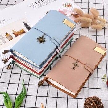 Handnote натуральная кожа Тетрадь с 3 вставками ПВХ карманом ручной работы для дневника чистый свежий Стиль дневник блокнот для скетчей