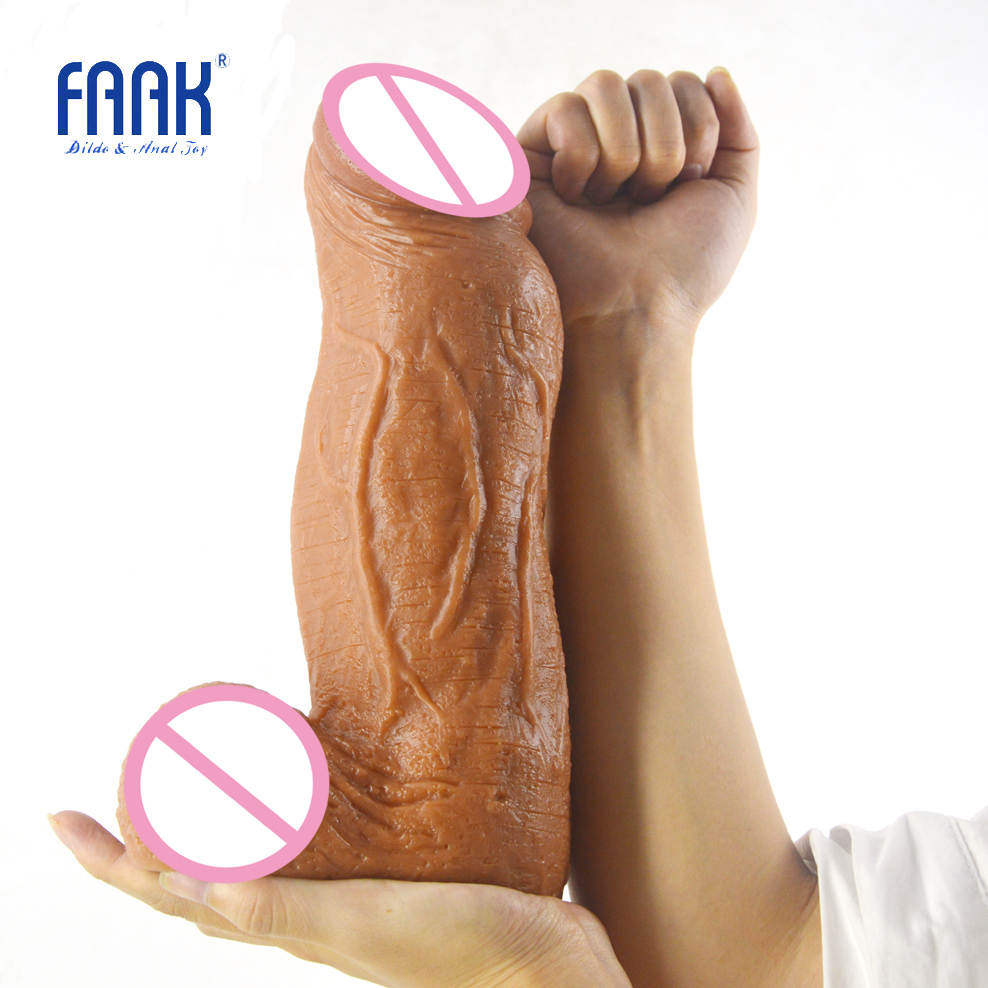 FAAK 3.18 inch thick huge dildo giant penis tough surface sex toys for women vagina stuffed stimulate lesbian man maturbation