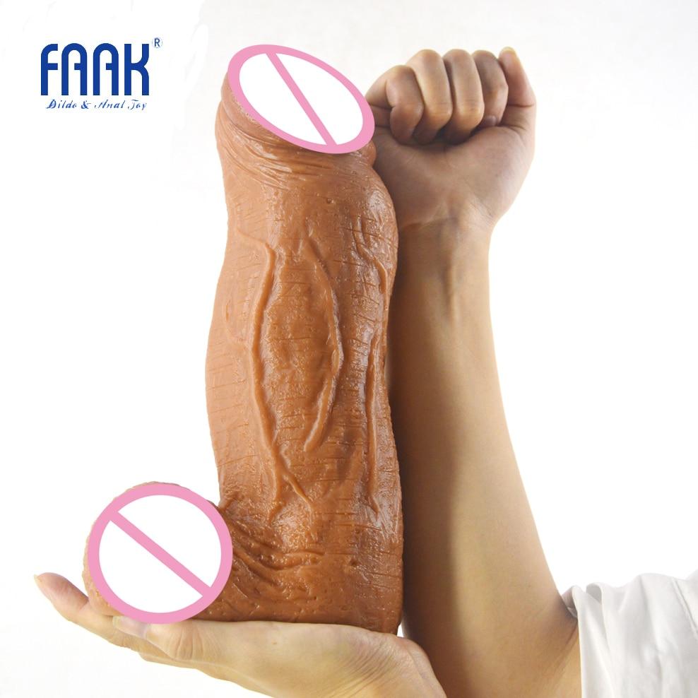 FAAK 3.18 inch thick huge dildo giant penis tough surface sex toys for women vagina stuffed stimulate lesbian man maturbation