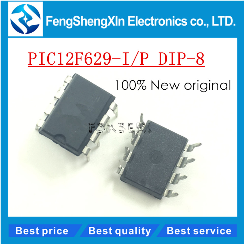 50pcs lot New PIC12F629 I P 12F629 I P DIP 8 Microcontrollers IC