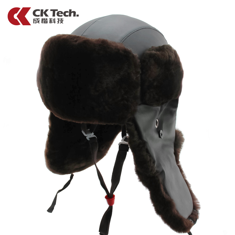 Adult Winter Building Safety Helmet Thermal Cap Construction Helmet Brown Sheepskin Leather Hard Hats Motorcycle Helmet M020 classic solar energy safety helmet hard ventilate hat cap cooling cool fan delightful cheap and new hot selling