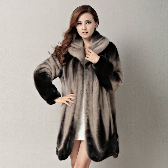 Aliexpress.com : Buy HOT!! Women's Genuine leather Fur coat Ladies ...