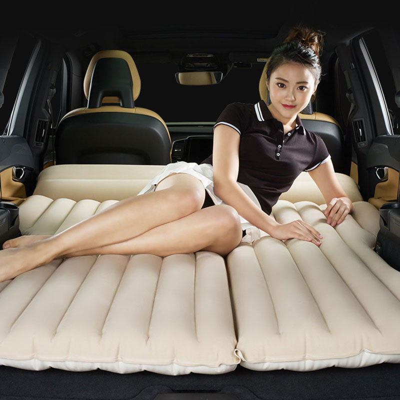 Car Travel Bed Car Bed Portable Folding Bed Inflatable Mattress Rear Row Car Mattress Vehicle Travel Bed SUV Sofa For Camping image