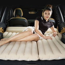 Car Travel Bed Car Bed Portable Folding Bed Inflatable Mattress Rear Row Car Mattress Vehicle Travel Bed SUV Sofa For Camping large double people big size inflatable mattress bed flocking bed mattress blue folding relax sofa chair