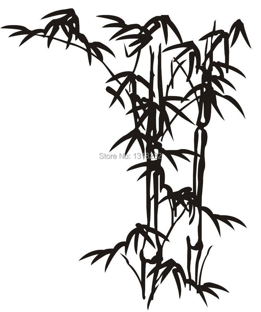 Parfait Vente Chaude Bambou Vinyle Sticker Mural Plante Japonais Art Mural  Autocollant Mural Chambre De Bébé Chambre Salon Décoration De La Maison  Dans Stickers ...