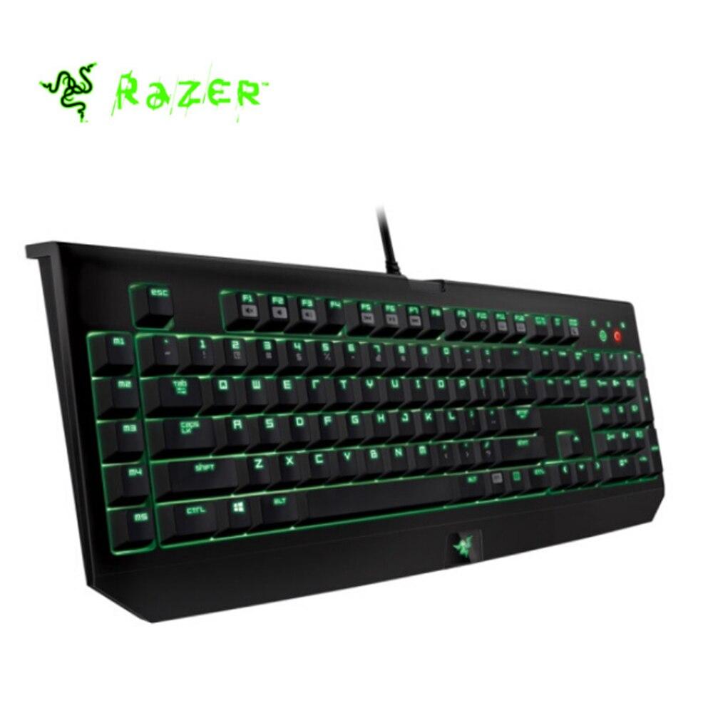 Razer Blackwidow Ultimate Mechanical Gaming Keyboard 104 Keys waterproof Backlit Green Switch Fully Programmable Tactile Clicky