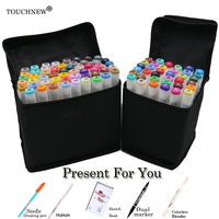 TOUCHNEW 168 Colors Set Artist Dual Head Sketch Markers Set Stabilo For School Drawing Sketch Marker