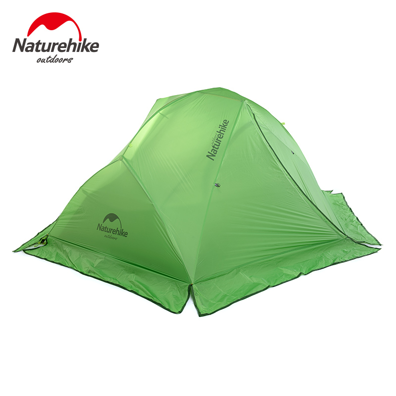 NH Galaxy 2 ultralight outdoor tent camping tent 2 double layer camping tent 20D silicone coated with snow skirt in green color naturehike ultralight 20d silicone coated 2 person double layer waterproof camping tent with snow skirt