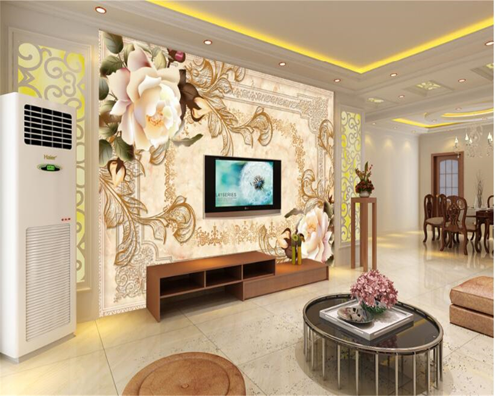 beibehang Wallpaper Fashion Marble Rose TV Wall Background wall paper for walls 3 d papel de parede photo wall mural wallpaper wallpaper for walls 3 d modern trdimensional geometry 4d tv background wall paper roll silver gray wallpapers for living room
