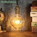 G125 Edison bulb LED vintage lamp bulb pumpkin glass dimmable 220V 4W E27 base energy saving table lamp bulb penant lamp