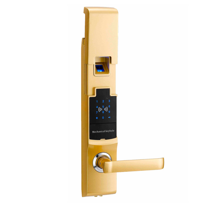 Fingerprint Smart Door Lock Digital Touch Screen  Password Keypad Access Control Card Intelligent Security L&S SL16-081SG 2017 new arrival biometric smart door lock digital touch screen keyless fingerprint password rfid card key 4ways l17014