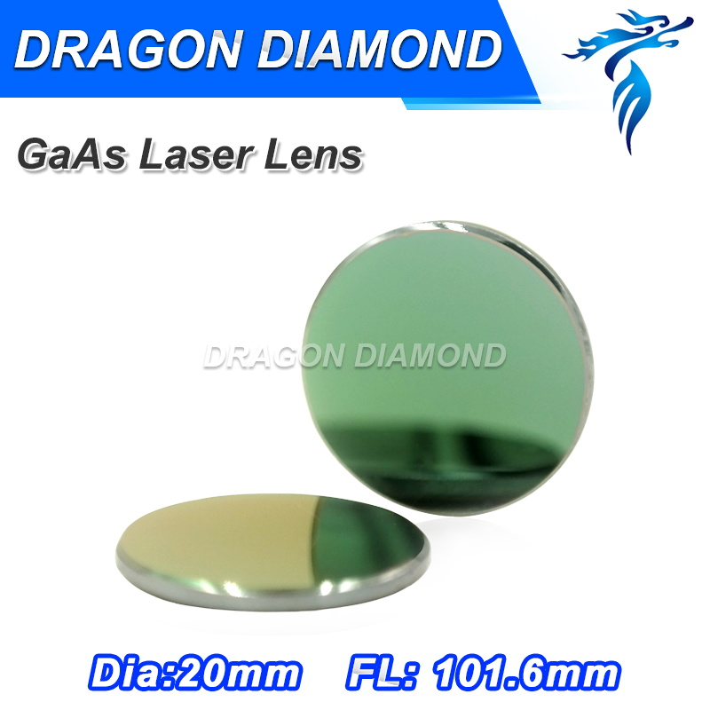 Factory Price High Quality Co2 GaAs Laser Lenses 20mm Diameter 101.6mm Focus Length for laser cutting machine high quality co2 laser machine reflector mo mirror diameter 20mm thickness 3mm