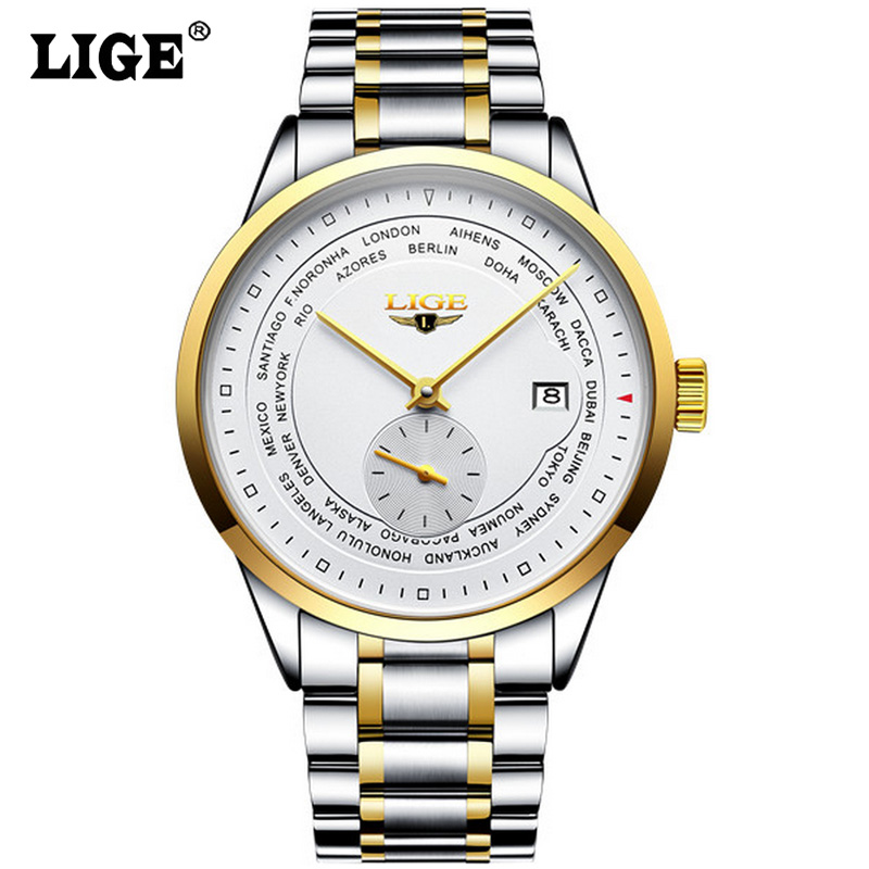 Ultra Thin Automatic Men's Watch Luxury Brand LIGE Self wind Mechanical Watches for Men Clock Date Display Watch montre homme mg orkina men watches 2016 luxury sapphire window japan movement mechanical watch auto date display male clock montre homme