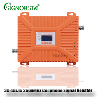For Russia High Gain 70 dB Dual Band 3G WCDMA 2100MHz UMTS 4G LTE 2600MHz Mobile Phone Signal Repeater Booster Amplifier 2018