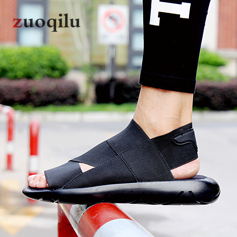 2019 Summer Beach Breathable Men Sandals Stretch Fabric Men Sandals Non-slip Men Causal Shoes Sandalias Hombre