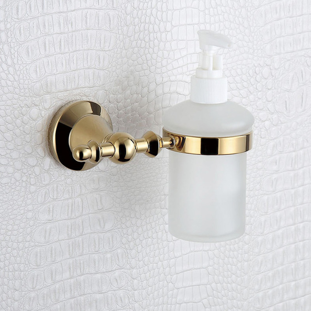 Rose Gold Antique Foam Liquid Soap Dispenser Copper Wall Mounted Shampoo Hand Gl Bottle Holder