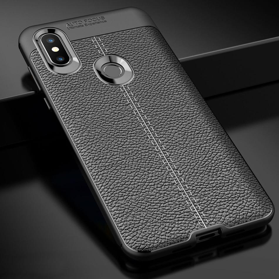 Mi Mix 3 Case for Xiaomi Mi Mix 3 Case Silicone Bumper Soft TPU Leather Texture Back Cover For Mi Mix 3 Case on Xiaomi Mi Mix 3