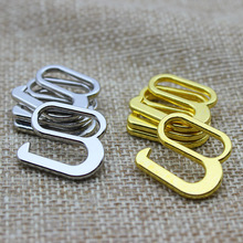 Silver/Golden 9 shape Color High Quality Plated Metal Bra Strap Adjuster Slider Hook And Ring Button 15 mm 100 pcs/lot