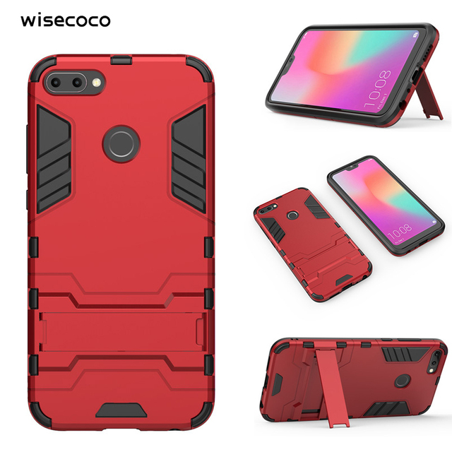 buy popular 2d78f 61a2f US $3.62 27% OFF|For Huawei P10 P20 p30 Lite Pro Y5 Y7 Y8 Y9 2017 2018 Mate  20 10 Case Shockproof Armor Stand Phone Cases Honor 9 9I V9 Play v10-in ...
