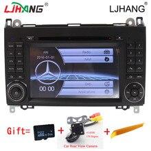 2 Din de Radio Auto Car DVD GPS unidad Principal para Mercedes Benz B200 A B Class W169 W245 Viano Vito W639 Sprinter W906 Bluetooth 3G GPS