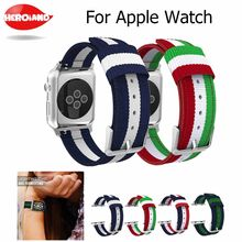 Banda para Apple Watch Series 3/2/1 38 MM 42 MM Nylon suave transpirable correa de repuesto deportivo bucle para serie iwatch 4 40 MM 44 MM(China)