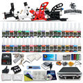 Complete Tattoo Kit 4 pcs Rotary Tattoo Machines 40 Tattoo Inks Professional Tattoo Power Box Supply