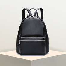 Women's new leather small backpack First layer leather large capacity backpack Korean version of the vertical school bag все цены