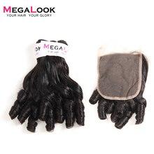 Megalook, бразильские вьющиеся волосы Funmi, пряди, 4*4, на шнуровке, Детские локоны, человеческие волосы, пряди, на шнуровке, волосы remy