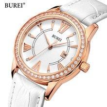 Ladies Fashion Quartz Watch Women Rhinestone Leather Casual Dress Women's Watch Rose Gold Crystal reloje mujer 2017 montre femme