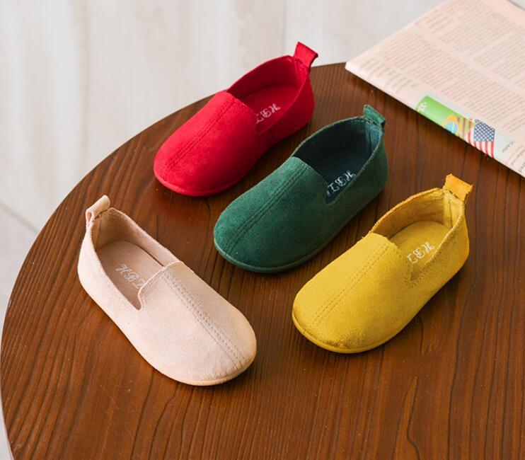 100% QualitäT 2018 Herbst Kinder Der Einzelnen Schuhe Baby Kleinkind Schuhe Jungen Einfarbig Weichen Boden Lässig Schuhe Mädchen Peas Schuhe Trend Im Sommer KüHl Und Im Winter Warm