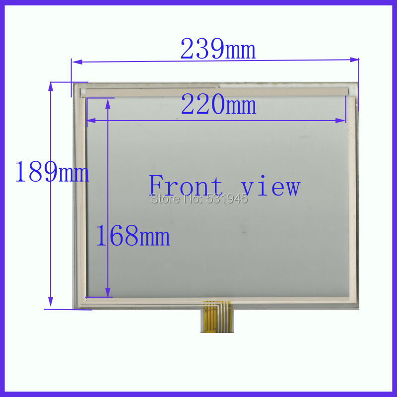 ZhiYuSun NEW 10.4 Inch Touch Screen 239*189    for industry applications  239mm*189mm 8 lins  47F8104025 R13 commercial use zhiyusun new 12 1 inch 8 wire resistive touch screen 264 211 for industry applications dtfp 95641 k28c045