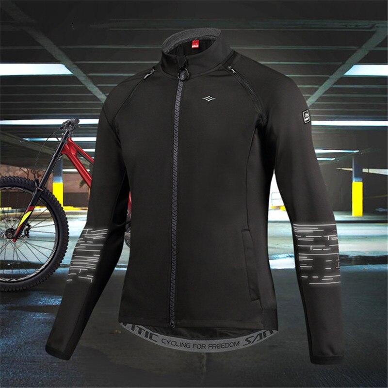 SANTIC garder au chaud vestes de cyclisme pour hommes coupe-vent manches amovibles veste automne hiver vtt vélo de route Sports manches longues manteau