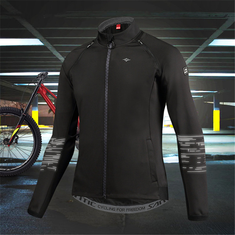 SANTIC Keep Warm Cycling Jackets For Men Windproof Removable Sleeves Jacket Autumn Winter Mtb Road Bike Sports Long Sleeves Coat цена