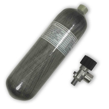 AC121710 MillionMax החדש 4500psi פחמן סיבי צילינדר 2.17L עם שסתום עבור פיינטבול טנק או אוויר אקדח Drop Acecare
