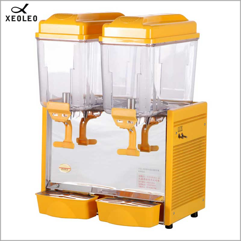 XEOLEO Double Tanks Cold&Hot Drink Machine 2*12L Juice Dispenser 220V Mix Type Beverage Machine  Commerical Drink Dispenser