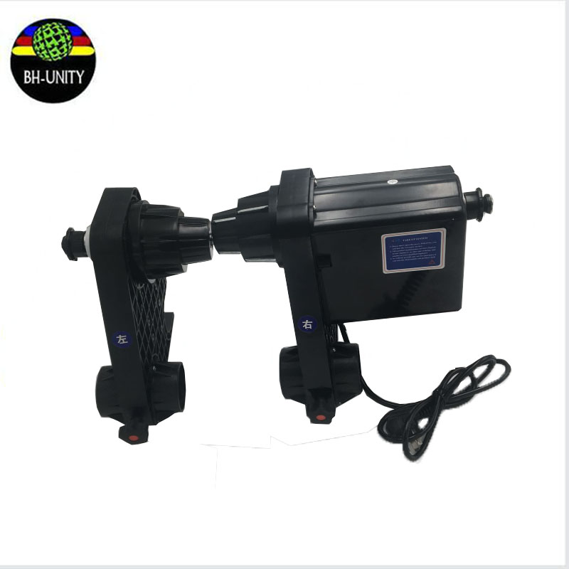 Hot sale!one/ single motor printer roller take up system without support legs 110V suitable for powerful Roland /Mimaki /Mutoh