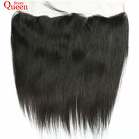 Queen Story Lace Frontal Closure Straight Hair Brazilian Remy Hair 13X4 Natural Color 10 22inch Human
