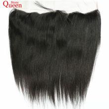 Королева история Бразильский прямые волосы 13×4 кружева Фронтальная застежка Реми волос натуральный Цвет 10-22 дюймов человека волос Бесплатная доставка