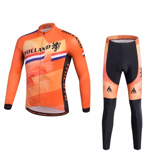 Men s Mountain Bike Jersey Long Sleeve   Compression Padded Pants Sets  Racing Cycling Long Kit Reflective f96e5bc6f