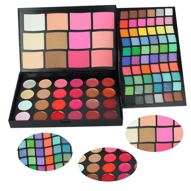Pro 96 A Todo Color Sombra de Ojos Paleta de brillo de Labios Marca Cosmética Profesional Fundación Blush Makeup Sombra de Ojos set Kit