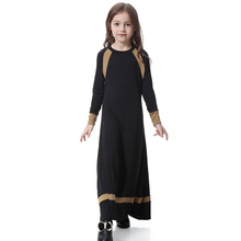 Arab Dresses Muslim Girls Abaya Islamic Children Stitched Kaftan Vestidos