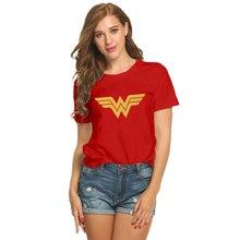 c10d48fb1 sofievalkiers Wonder Woman T-shirt Fitness T Shirt Girls Pure Cotton Short  Sleeve