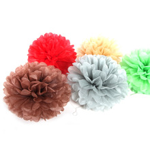 Pack of 5 20cm Tissue Paper Pom Flwoers Set Birthday Party Hanging Decoration  Home Room Space Decor