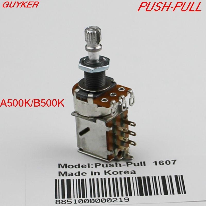 Potenciómetro Alpha 500k, para guitarra, A500K/B500K