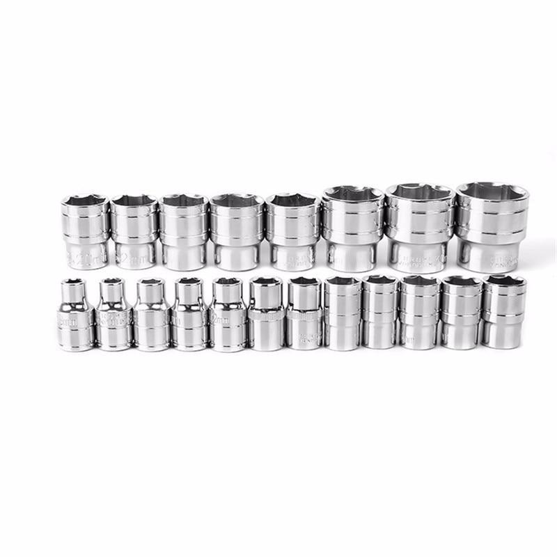 "3//8/"" Drive Standard /& Long Socket for Wrench 6~24 mm Metric MM Chrome Master New"