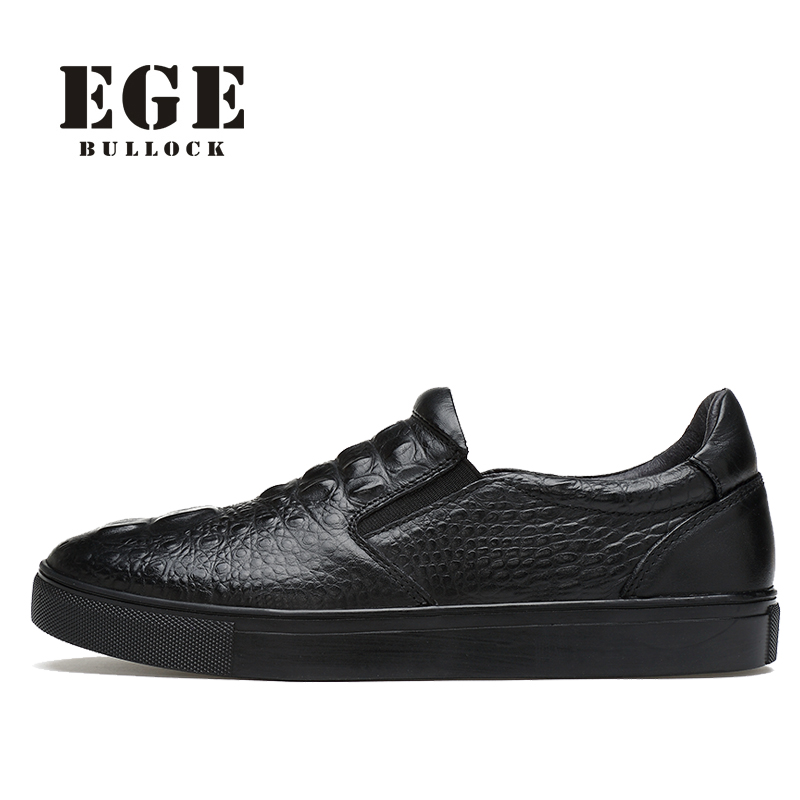 EGE Brand Men Moccasins Fashion crocodile Genuine Leather Male Flats Casual Breathable Loafers Leisure Driving Shoes for Men men casual shoes genuine leather fashion moccasins men flats loafers soft bottom leisure driving shoes male footwear rmc 411